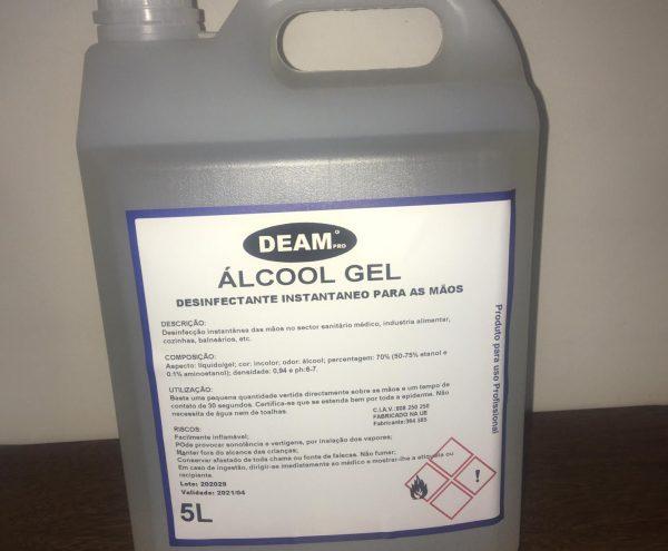 ALCOOL GEL HIGIENIZANTE DESINFETANTE 5L